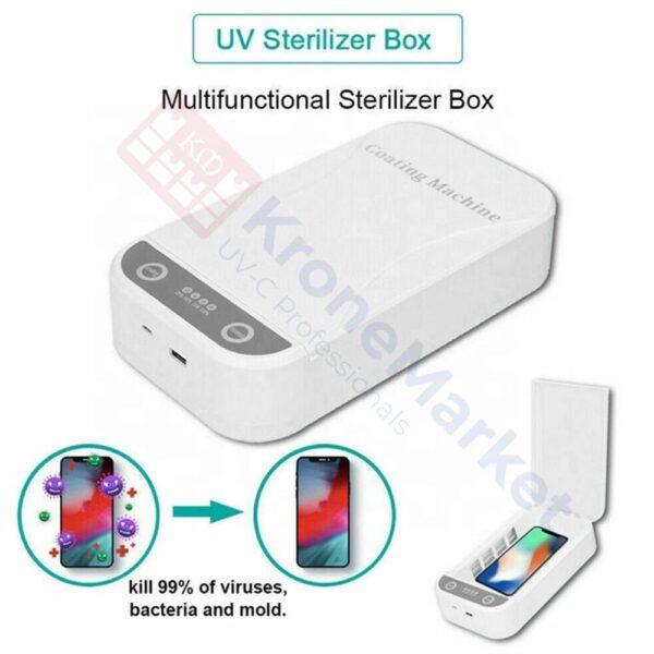 Doboz UVC lámpákkal tárgyak sterilizálásához