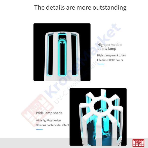 Quartz tube UVC lamp for sterilization KMK-A4
