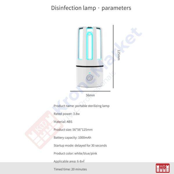 Dimensiuni Lampă UVC cu Ozon KMK-A4